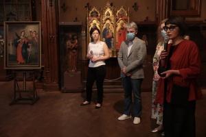 В музее Ханенко представили картину «Святая Варвара», подаренную из Швеции