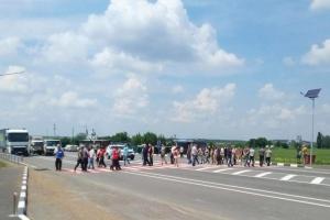 На Кіровоградщині гірники перекрили трасу через борги по зарплаті