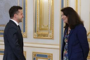 Zelensky et Linde ont discuté de la situation sécuritaire dans l'est de l'Ukraine