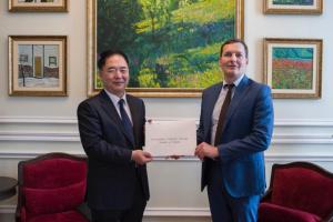 New ambassador of Republic of Korea presents copies of credentials at Ukrainian Foreign Ministry