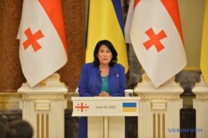 Зурабішвілі назвала окупацію спільним болем Грузії та України