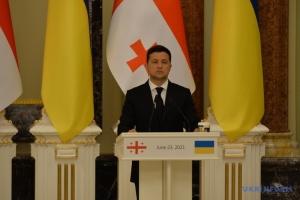 Zelensky: Ucrania y Georgia están unidas por los objetivos de adhesión a la UE y la OTAN