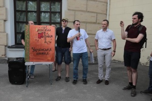У Києві письменники та діячі культури провели акцію «Підтримай українську книжку»