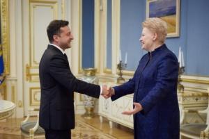 Zelensky meets with Grybauskaite