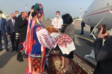 Prezydent Gruzji przybyła na Ukrainę