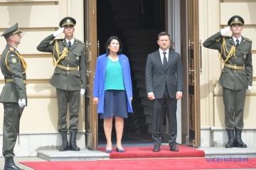 Zelensky et Zourabichvili se rencontrent au palais Mariinsky