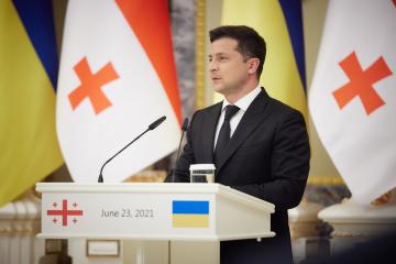 Zełenski - Ukrainę i Gruzję łączą cele wejścia do UE i NATO