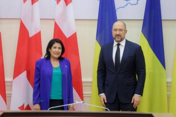 Shmygal y Zourabichvili tratan la cooperación económico-comercial y el desarrollo del turismo