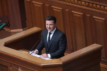 President Zelensky's speech on occasion of 25th anniversary of Constitution of Ukraine