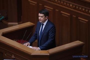 Parlamentschef Rasumkow ist gegen zweite Amtszeit für Selenskyj