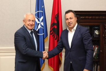 Ukraine, Albania agree on joint steps for peace and security