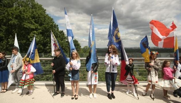Діти з усієї України провели в Києві акцію на підтримку захисників Вітчизни