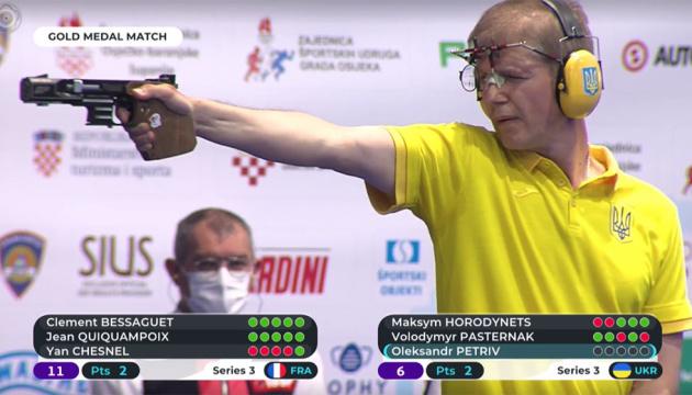 Українці здобули командне «срібло» чемпіонату Європи у швидкісній стрільбі з пістолета