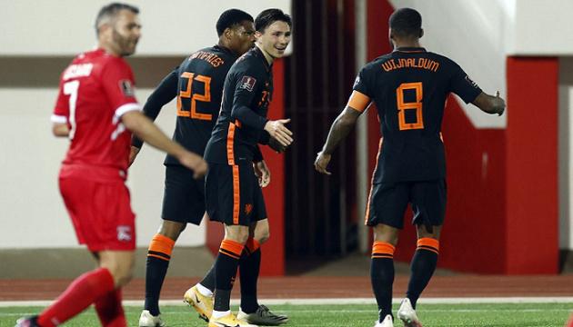 Нідерланди розгромили Грузію у товариському футбольному матчі