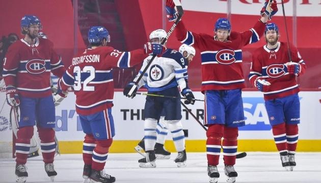 НХЛ: «Монреаль» виграв третій матч у «Вінніпега» в серії плей-офф Кубка Стенлі