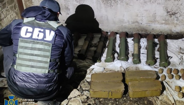 СБУ ліквідувала на Донеччині схрон зі зброєю, залишений бойовиками Гіркіна