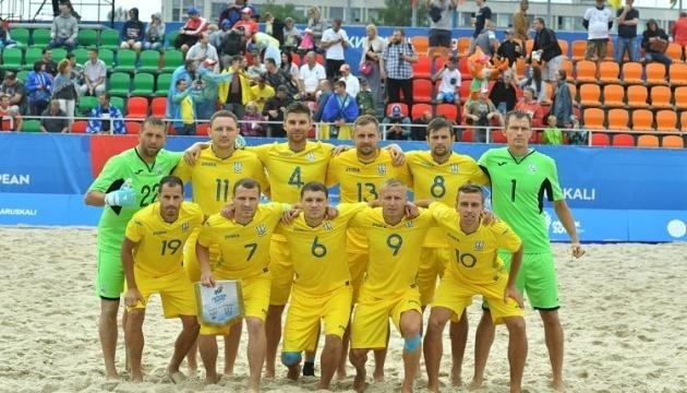 Збірна України з пляжного футболу оголосила склад на матчі з Молдовою