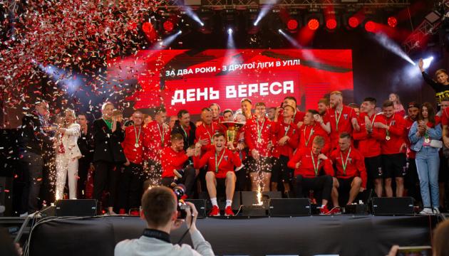 «Верес» гучно відсвяткував вихід до Прем'єр-ліги