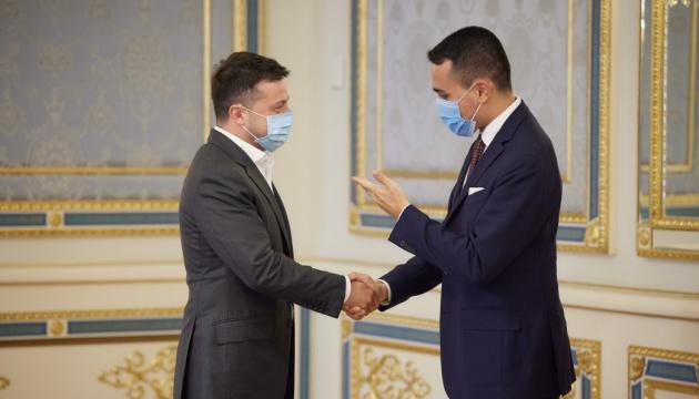 Selenskyj und Außenminister Italiens Di Maio sprachen über Ostukraine und Nord Stream 2