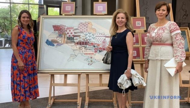 Унікальні українські вишивки представили на міжнародній виставці в Анкарі