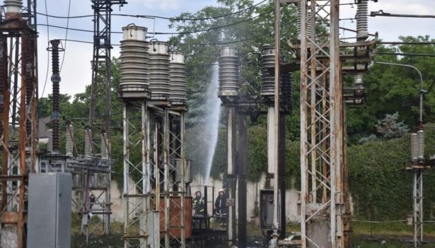 Пожар на подстанции оставил часть Одессы без воды и света