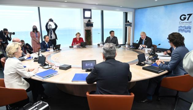 Le G7 a appelé la Russie à retirer ses troupes de la frontière ukrainienne et de la Crimée