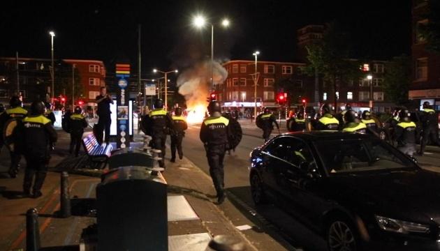 У Нідерландах з пожежею та феєрверками святкували перемогу над Україною