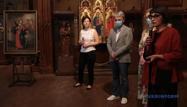 У музеї Ханенків презентували картину «Свята Варвара», подаровану зі Швеції