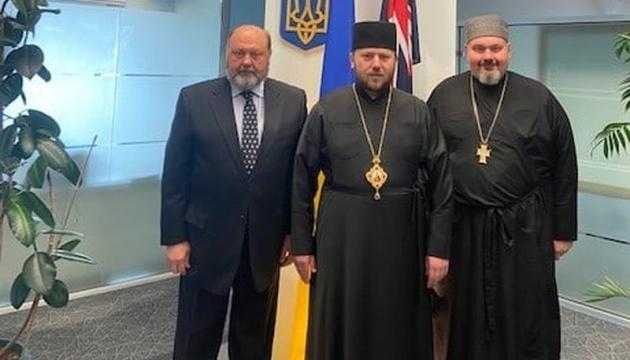Посол в Австралії обговорив з душпастирем УГКЦ питання розвитку української громади