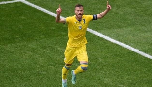 Ярмоленко обійшов Шевченка за системою гол + пас за збірну України