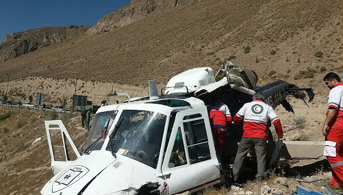 В Ірані розбився вертоліт з виборчими бюлетенями, є загиблий і поранені