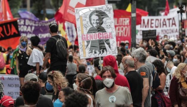В Бразилии демонстранты вновь требовали отставки президента Болсонару