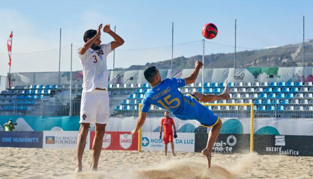 Пляжний футбол: Україна перемогла Туреччину у відборі чемпіонату світу