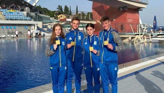 Прыгуны в воду завоевали первое «золото» на юниорском чемпионате Европы