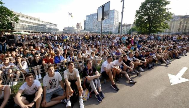 Підтримали збірну: матч Україна – Австрія показали на найбільшому екрані Європи