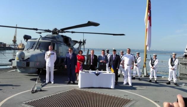 Ucrania y el Reino Unido acuerdan construir conjuntamente buques de guerra y bases para la Armada