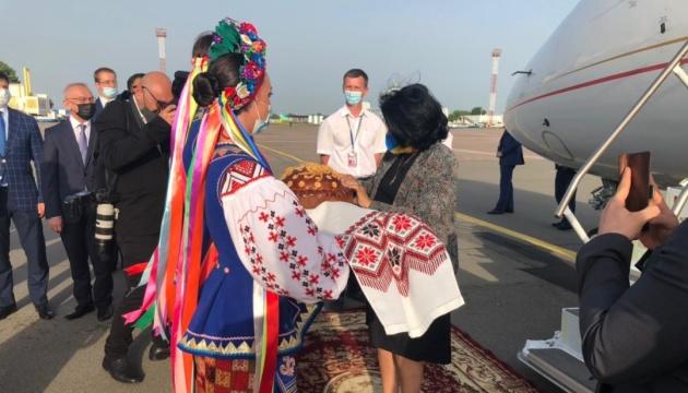 Georgian president arrives in Ukraine