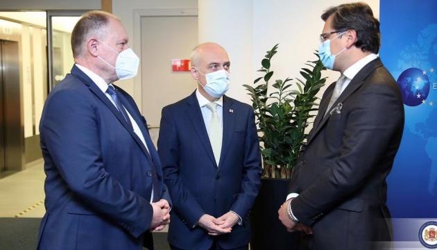 """Ukraine, Georgien und Moldawien präsentieren Format eines """"assoziierten Trios"""""""