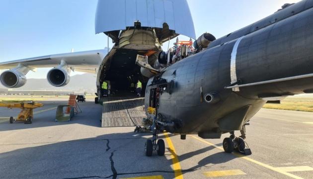 Літак-гігант «Мрія» перевіз із Кабула три вертольоти Puma ВПС Британії