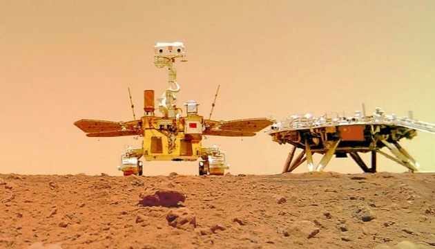 Китай показал посадку своего марсохода на Красную планету