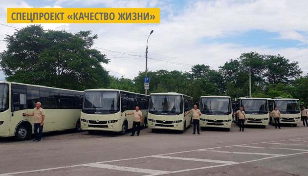 Херсон получил вторую партию новых  автобусов