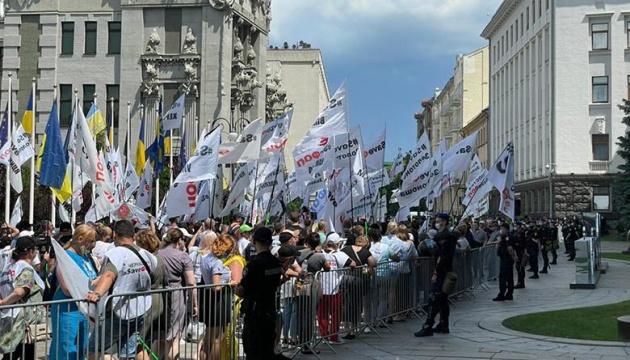 Сутички з ФОПами на Банковій: поліція заявляє, що затриманих і постраждалих немає