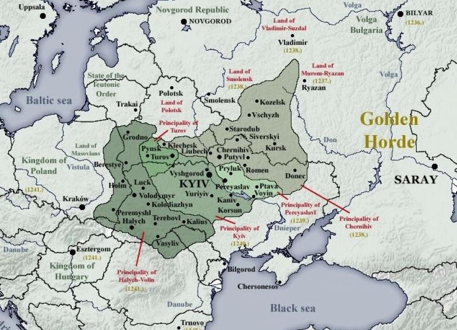 Українські князівства станом на 1230 рік