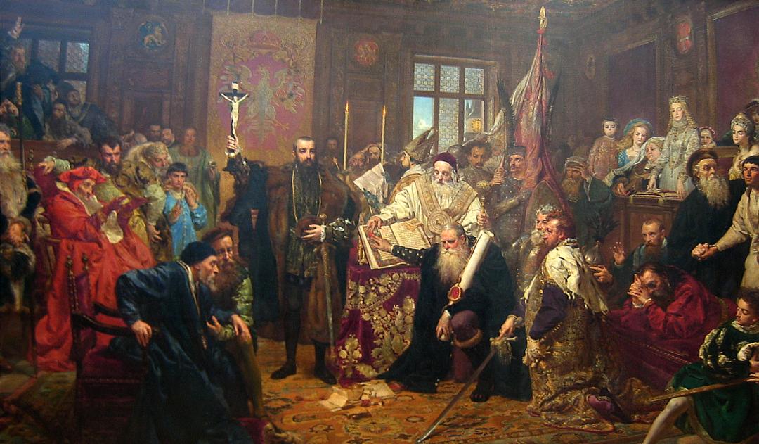 Ян Матейко. Укладення Люблінської унії 1596 року