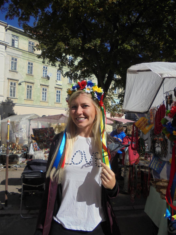 Внучка Андрійка під час подорожі в Україну