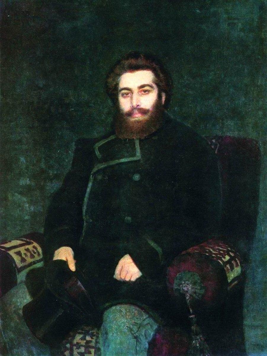 Ілля Рєпін. «Портрет художника Архипа Івановича Куїнджі», 1877 р.