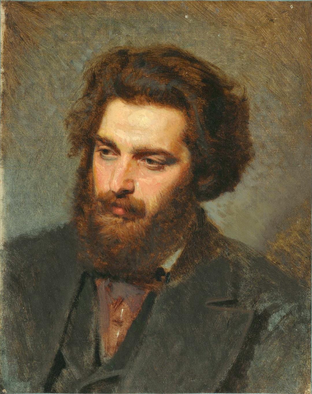 Іван Крамськой, живописець Архип Іванович Куїнджі, 1872 р.