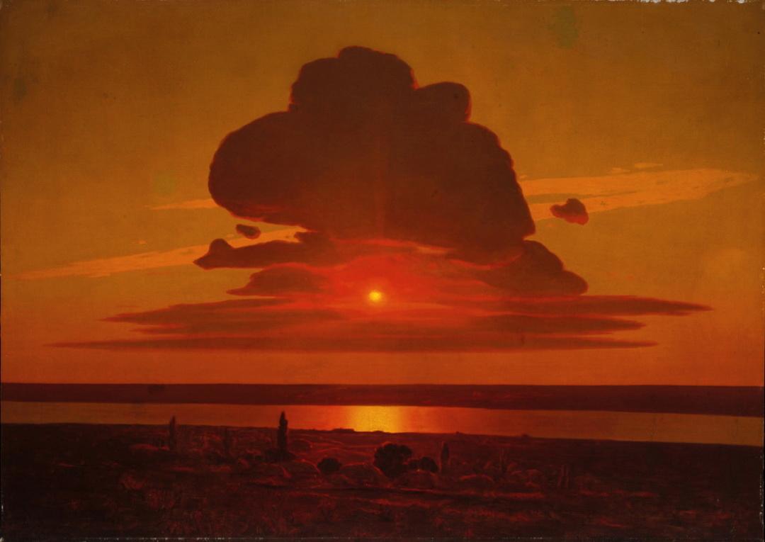 Червоний захід сонця на Дніпрі, 1900-ті рр.