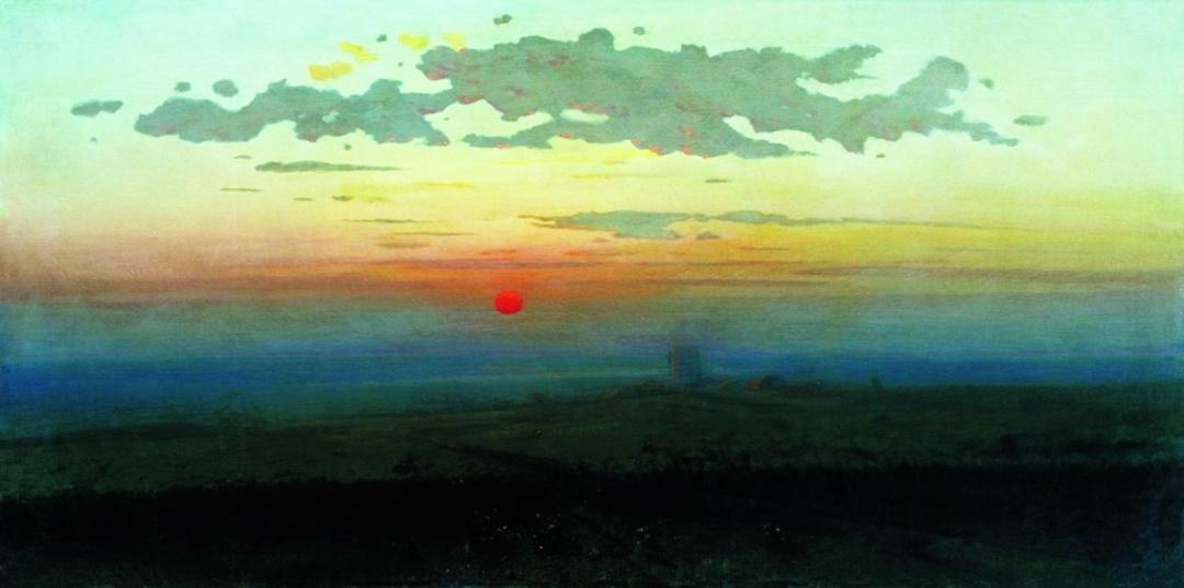 Захід сонця у степу, 1900 р.