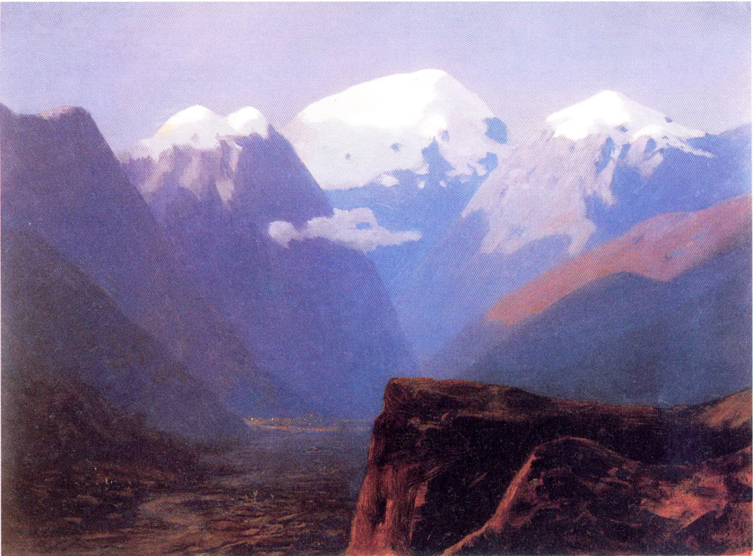 Засніжені вершини, Кавказ, 1890-ті рр.
